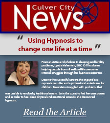 Culver City News: Using Hypnosis To Change One Life At A Time